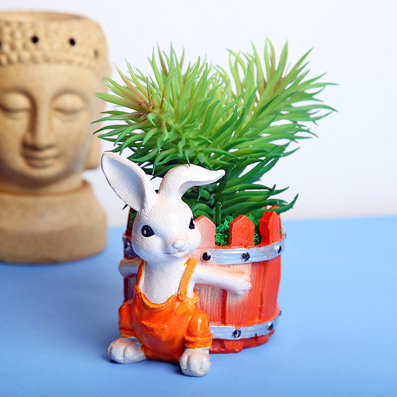 Cute Bunny Vase With Plant