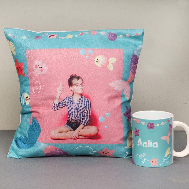 Personalised Mug and Cushion Combo