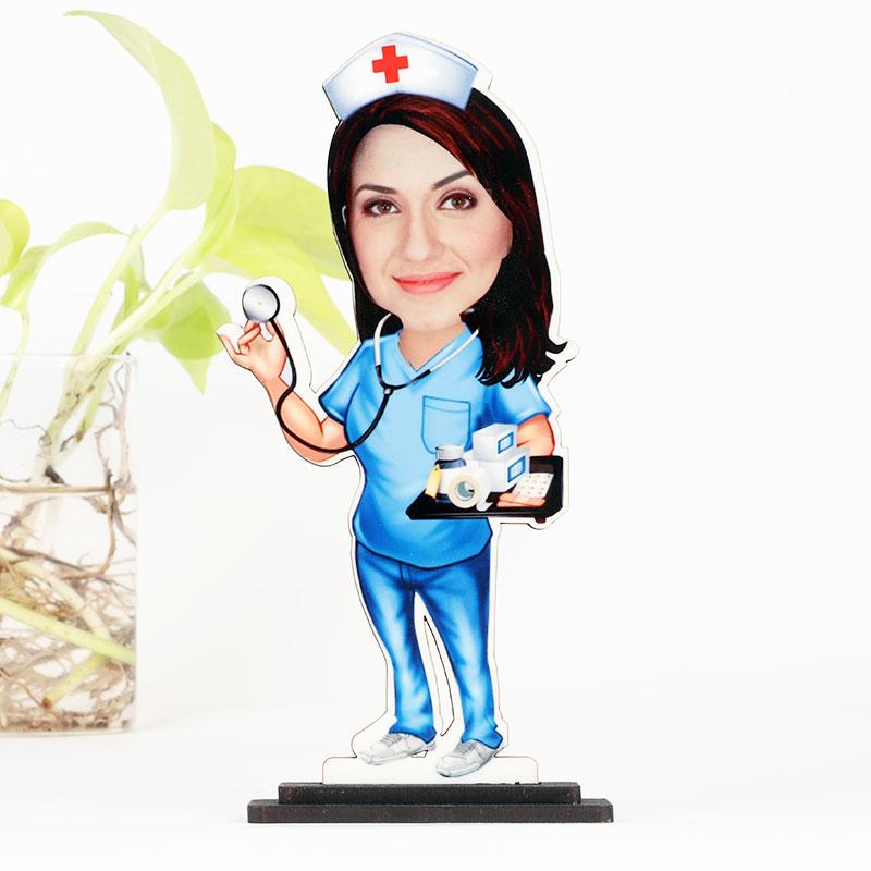 Cute Doctor Caricature