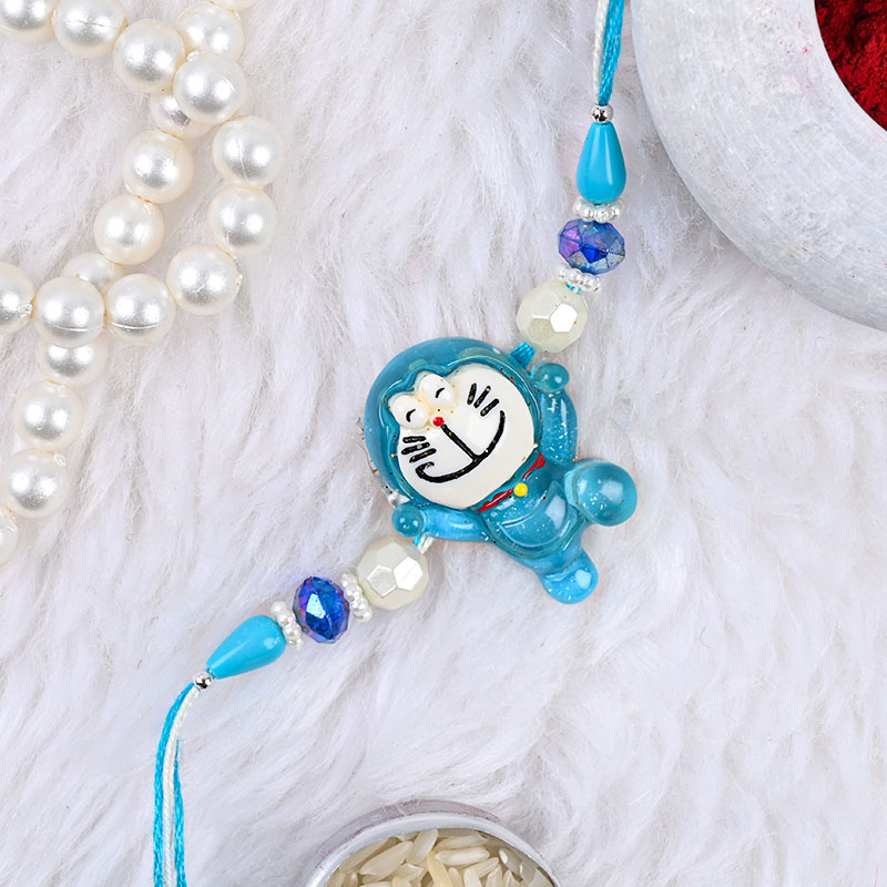 Cute Doraemon Rakhi - A Cartoon Rakhi Gift for Kids