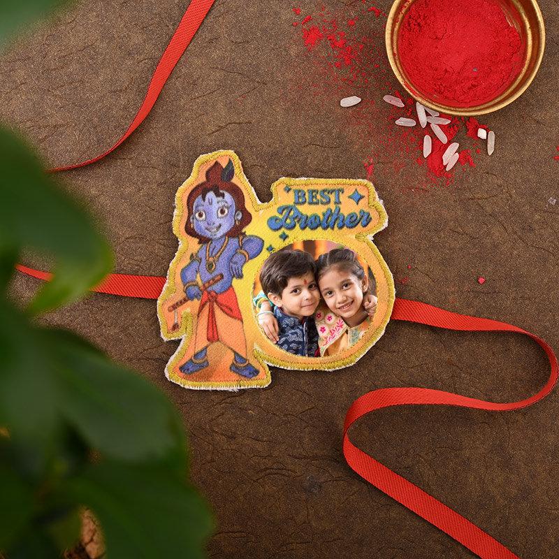 Cute Krishna Custom Rakhi - One Cute Krishna Personalised Rakhi