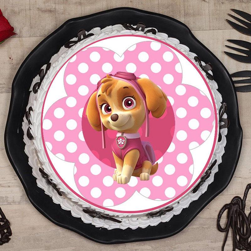 Cute Pink Puppy Cake