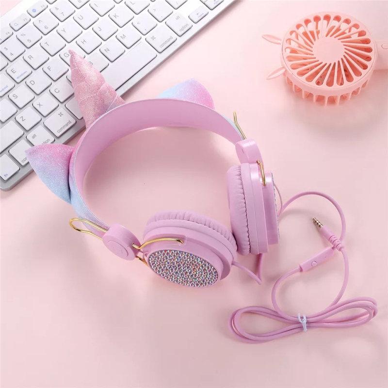 Cute Unicorn Headphones