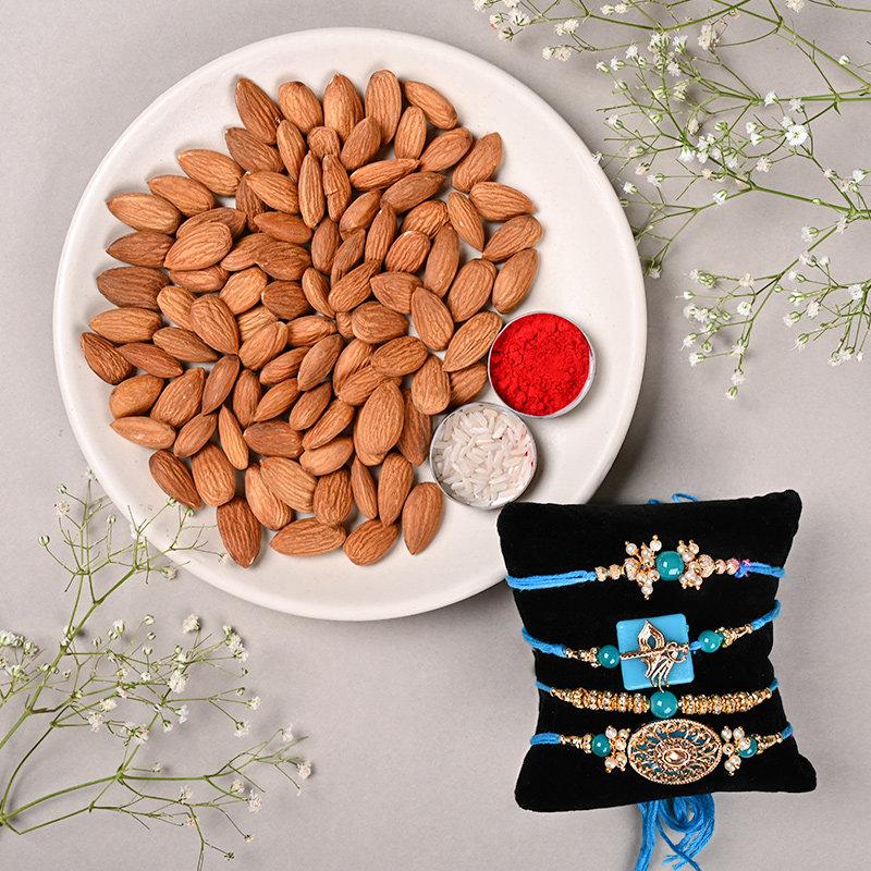 Cyan Rakhi Gift Hamper
