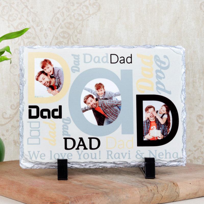Dad Photo Love Tile
