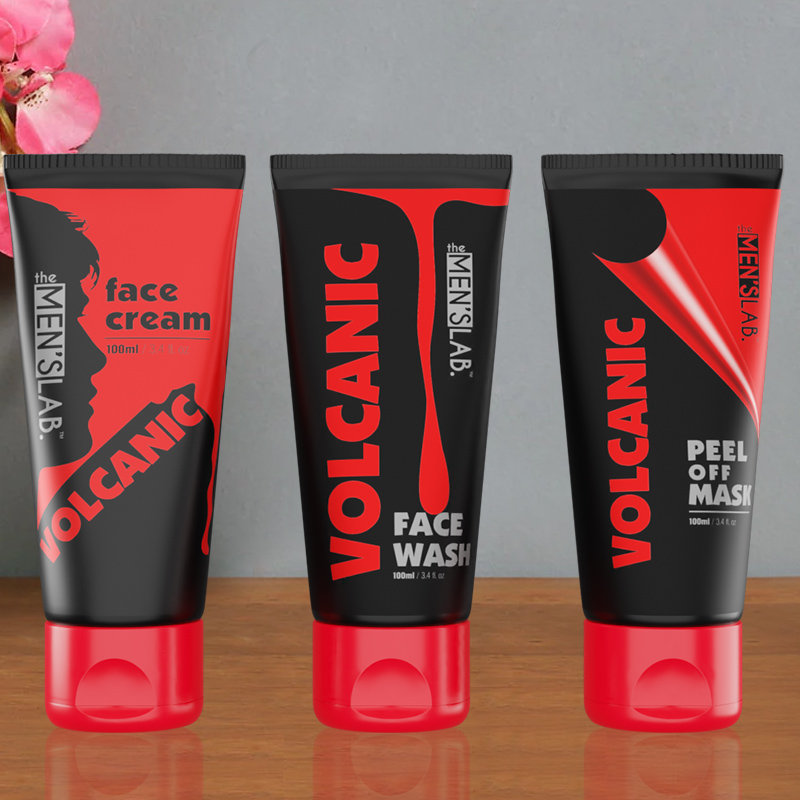 Daily Skin Care Pack - Volcanic Face Wash and Volcanic Face Cream with Volcanic Peel Off Mask