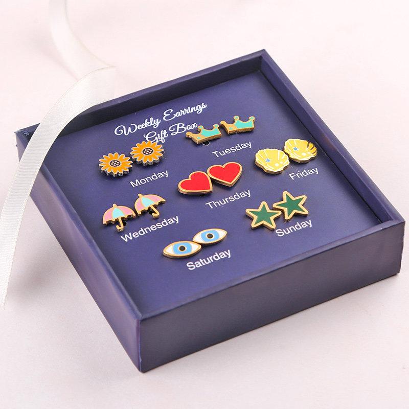 Dainty Set Of 7 Earrings