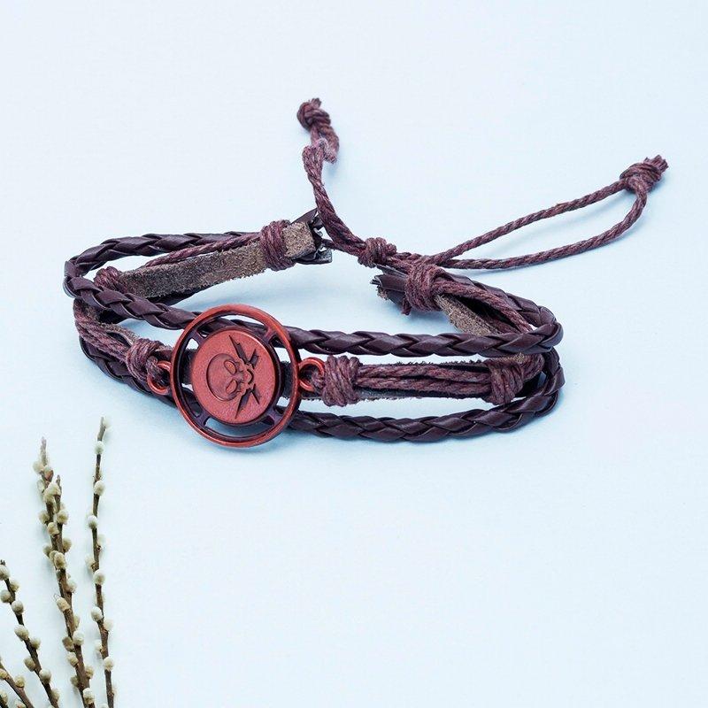 Danger Pirate Leather Bracelet