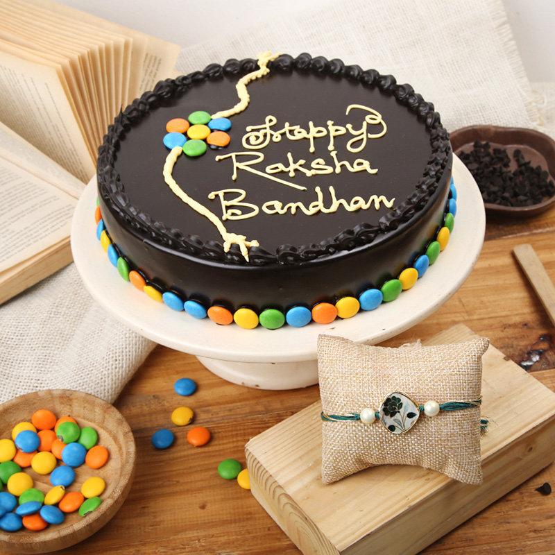 Dark Chocolate Rakhi Cake