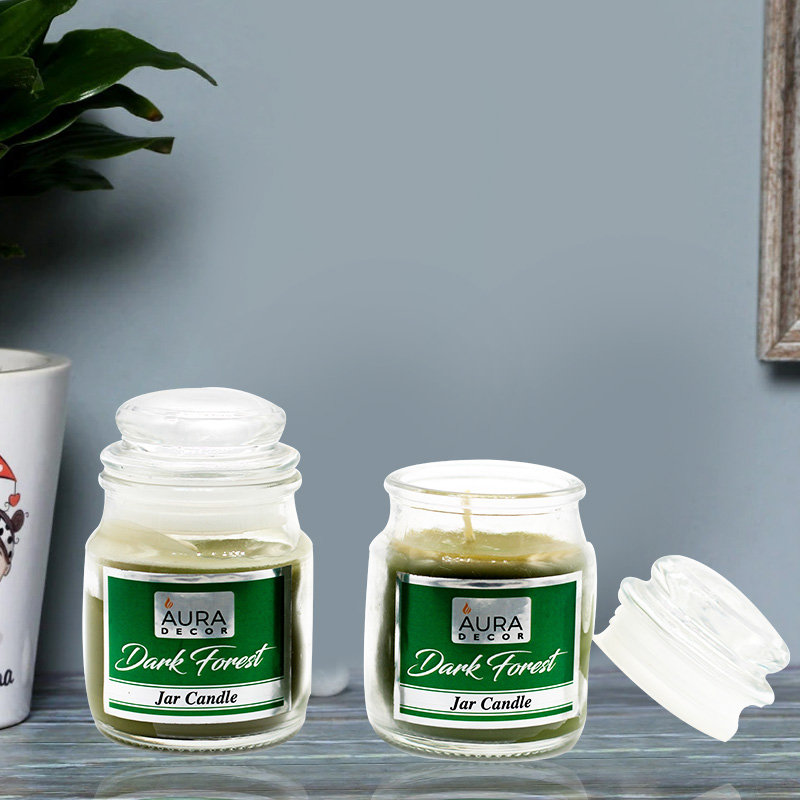 2 Jar Candles with Dark Forest Fragrance Fragrance