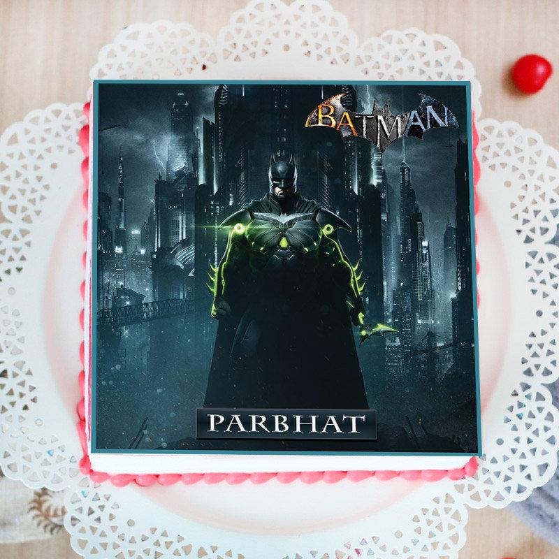 Dark Knight Poster Cake