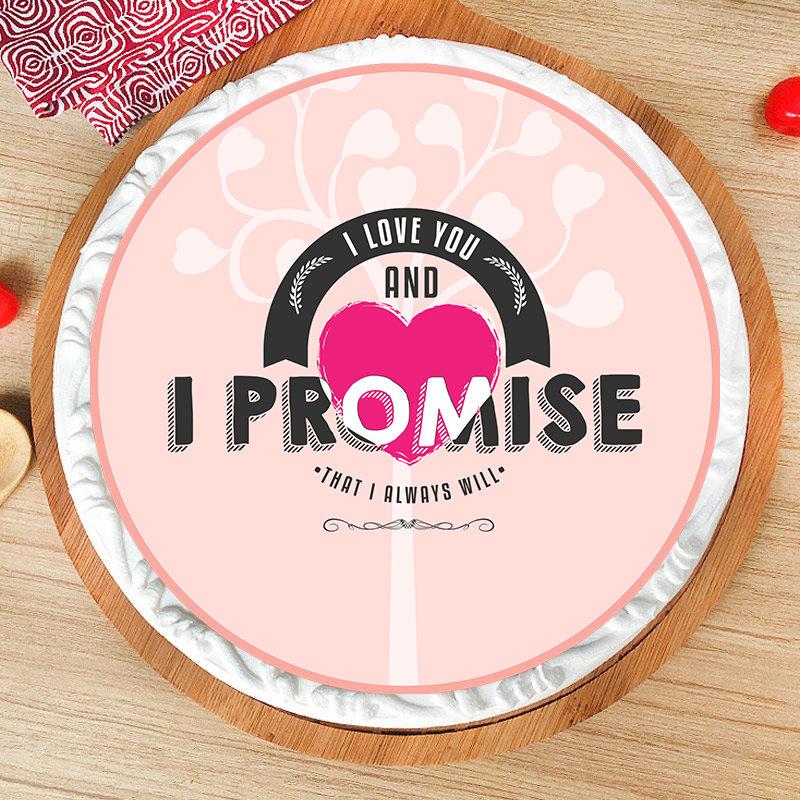 Decadent Promise Day Cake
