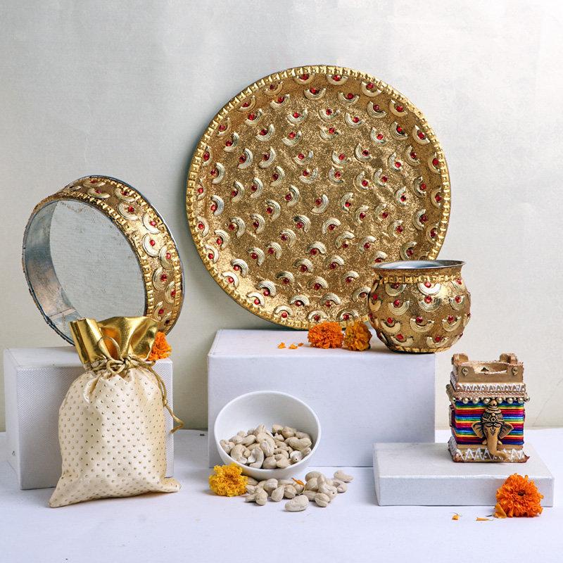 Decorative Karwa Thali Set
