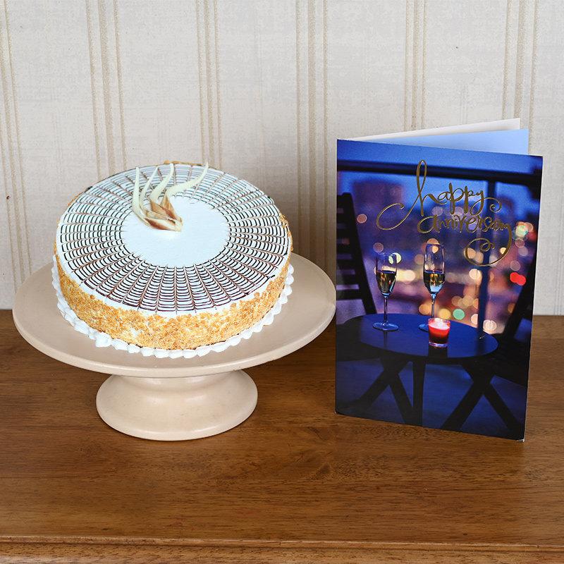 Delicious Anniversary Cake Combo