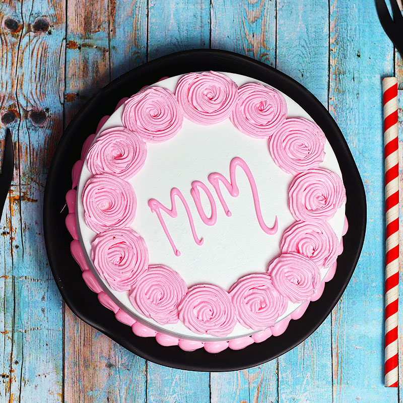 Top View of Mothers Day Cake for Mom