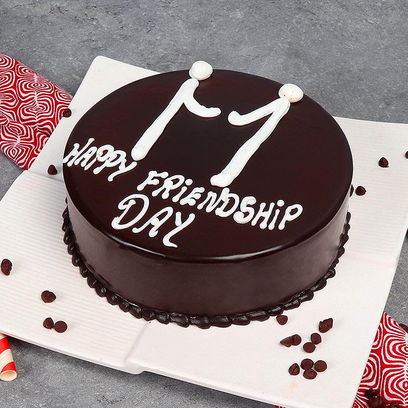 Friendship Day Chocolate Cake