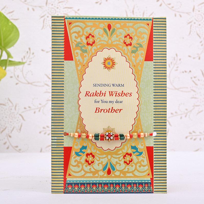 Designer Bead Rakhi Card