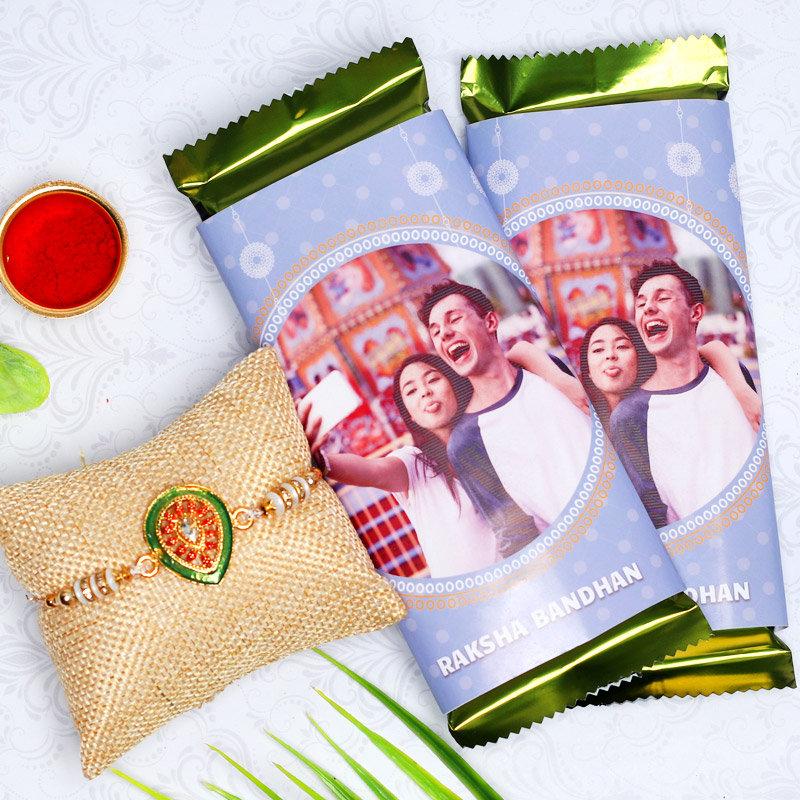 Designer Custom Choco Rakhi Combo