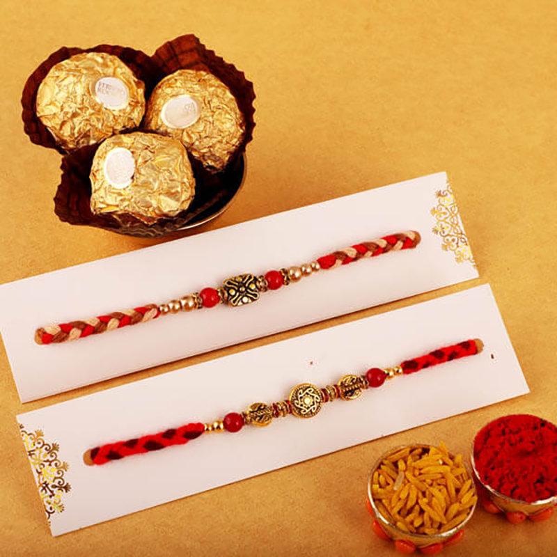 Designer Rakhi And Chocolate Treat