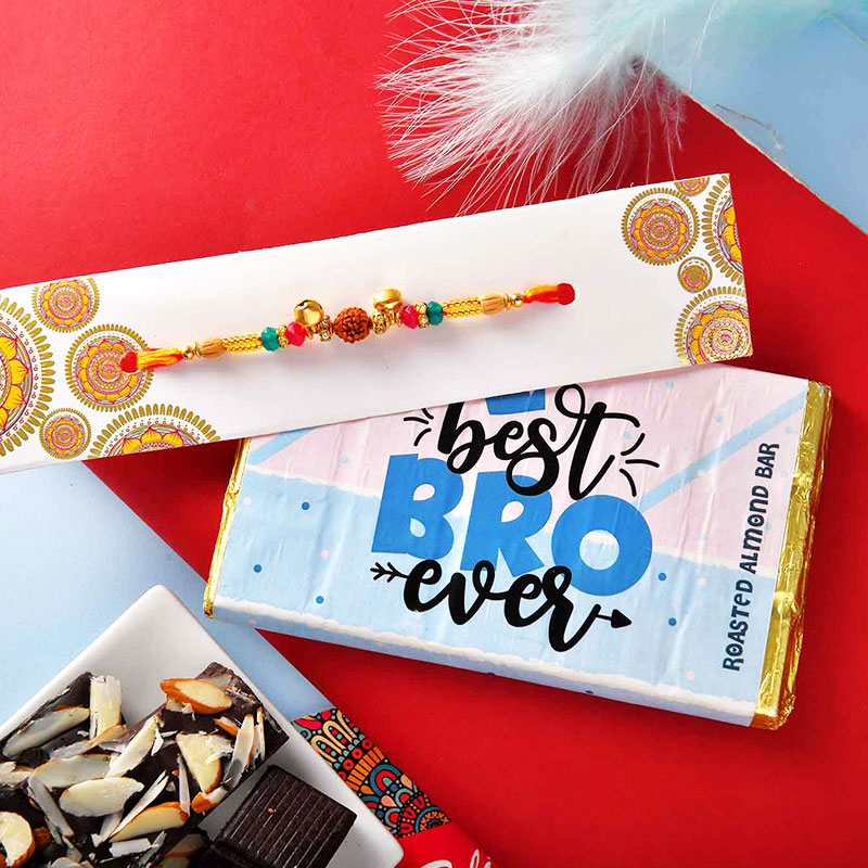 Designer Rakhi N Roasted Almond Chocolate