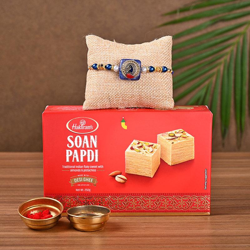 Designer Rakhi N Soan Papdi Combo