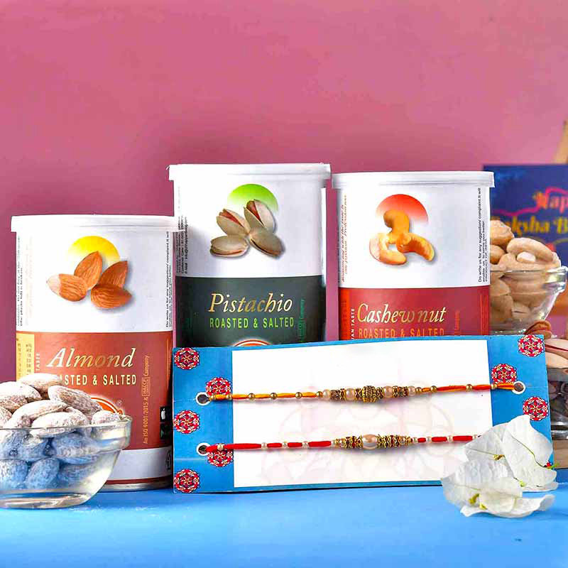 Designer Rakhis Roasted Nuts Pack