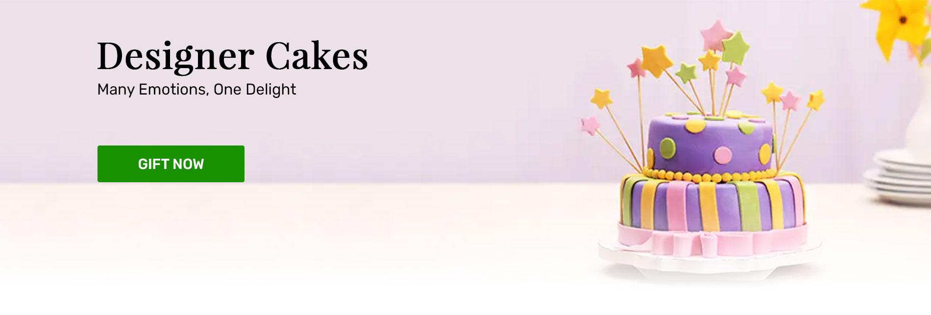 Send designer cakes online