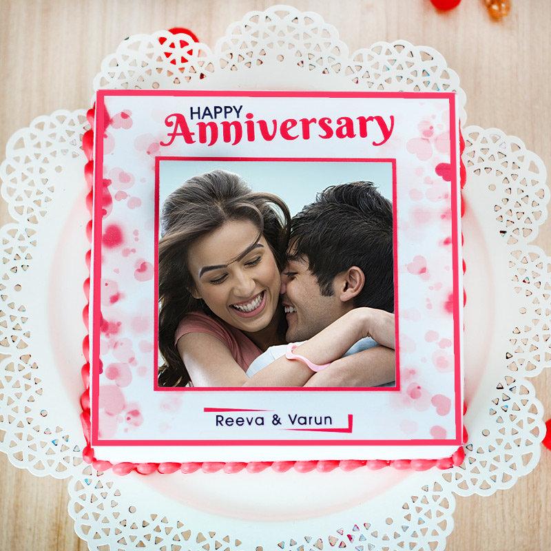 My Forever anniversary photo cake