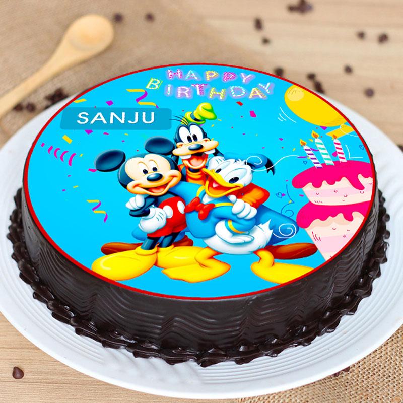 Disney Birthday Poster Cake