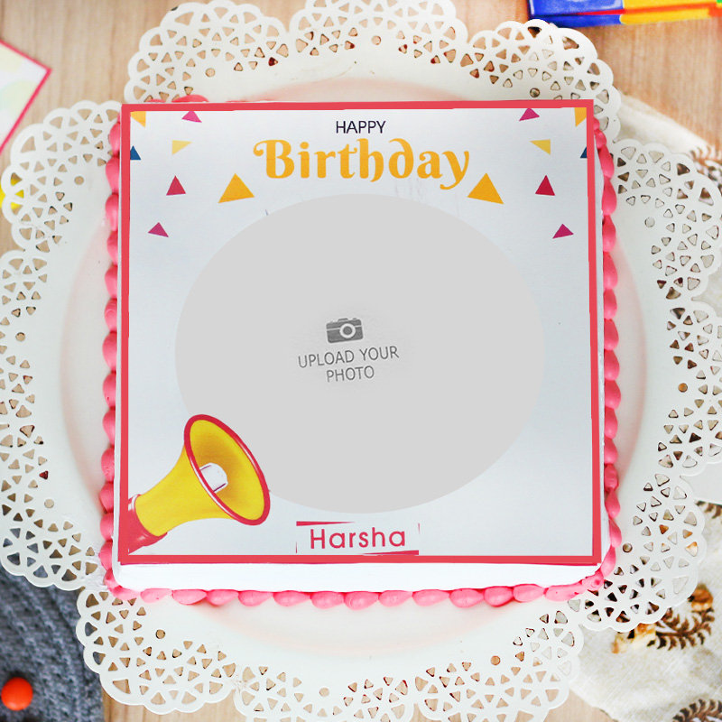 Birthday Photo Cake - Top View