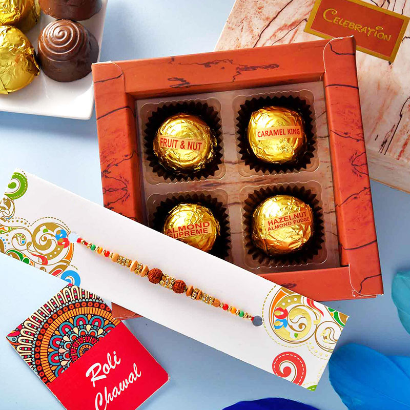 Divine Rakhi With Mixed Choco Box
