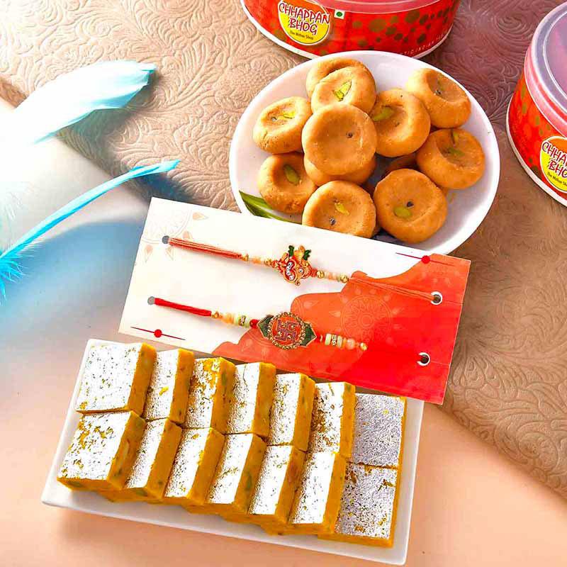 Divine Rakhis N Sweetness Combo