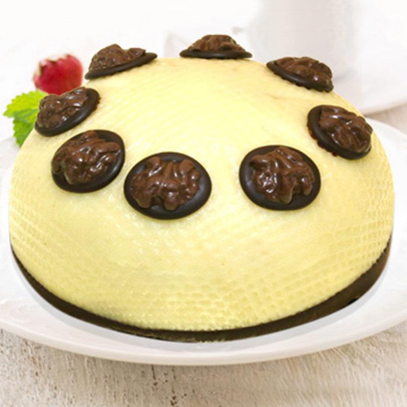 Dome-Shaped Walnut Cake
