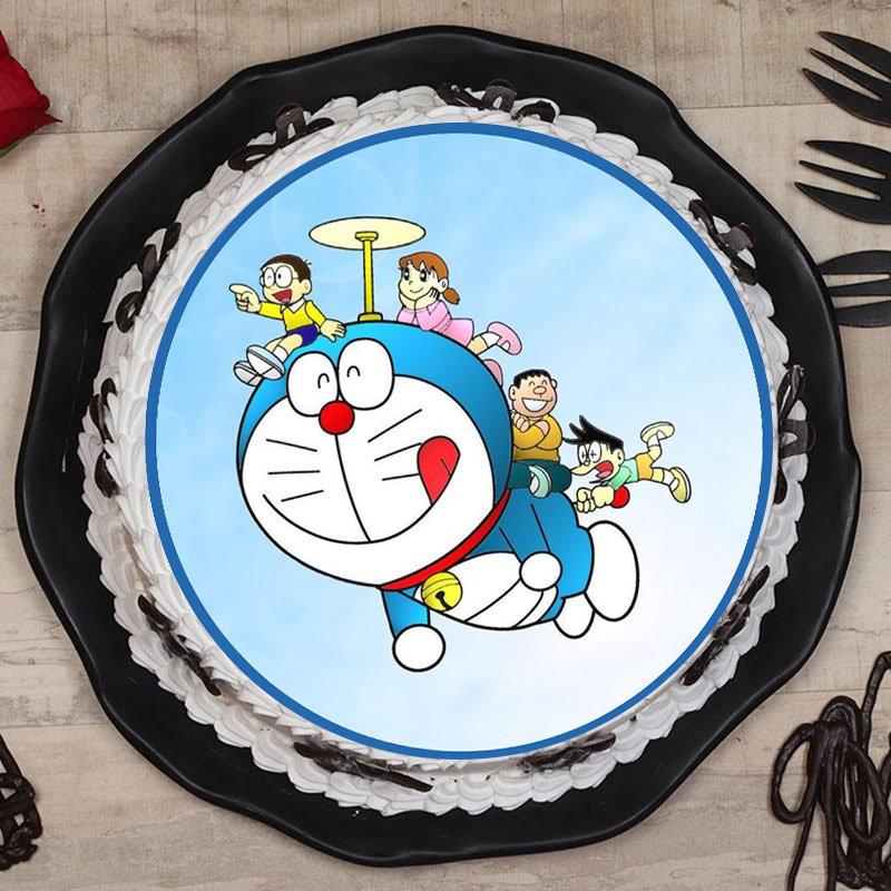 Doraemon Fam Cartoon Cake