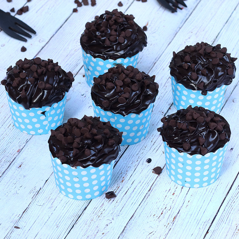 Double Chocolate Cup Cakes