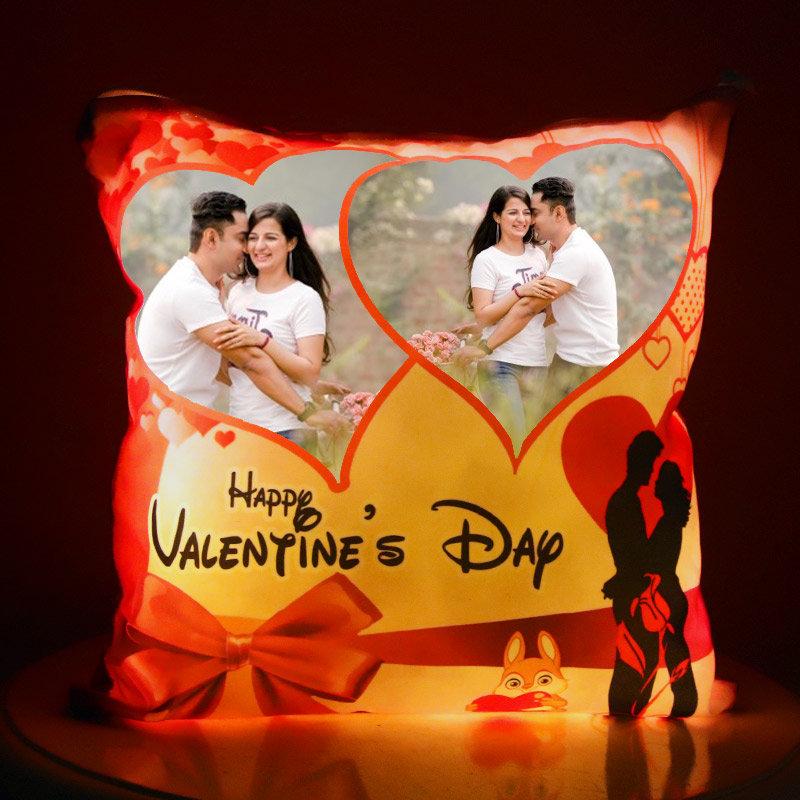 Personalised LED Cushion for Valentine