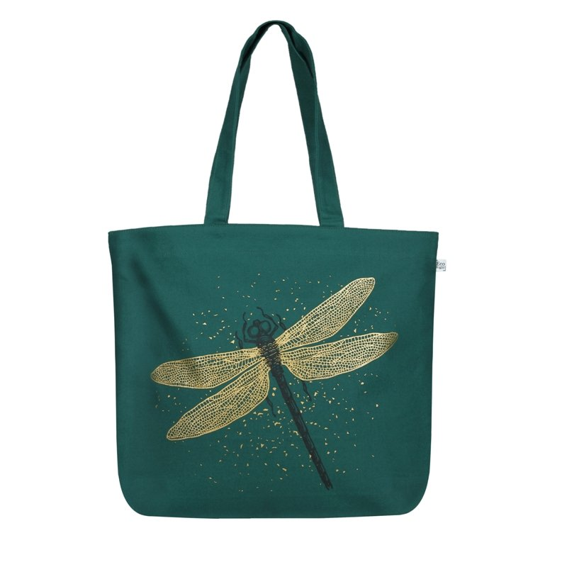 Dragonfly Zipper Tote: Spectacular DragonFly Large Zipper Tote Bag