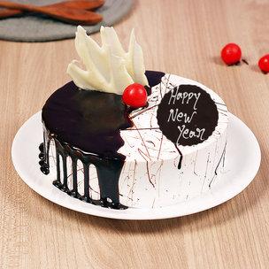 Dripping Choco Vanilla HNY Cake