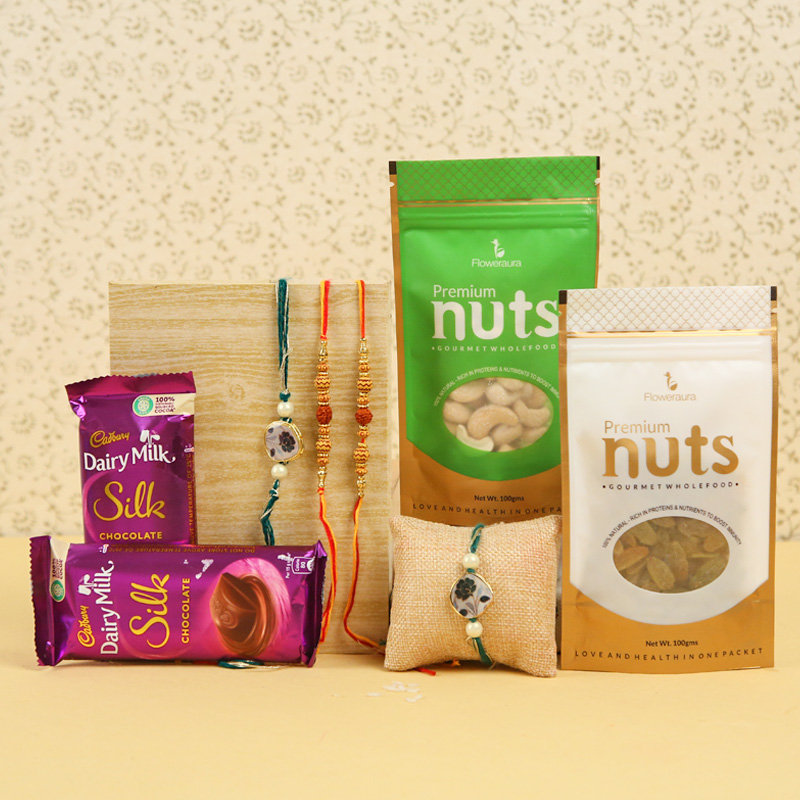 Dual nutty chocolate Rakhi
