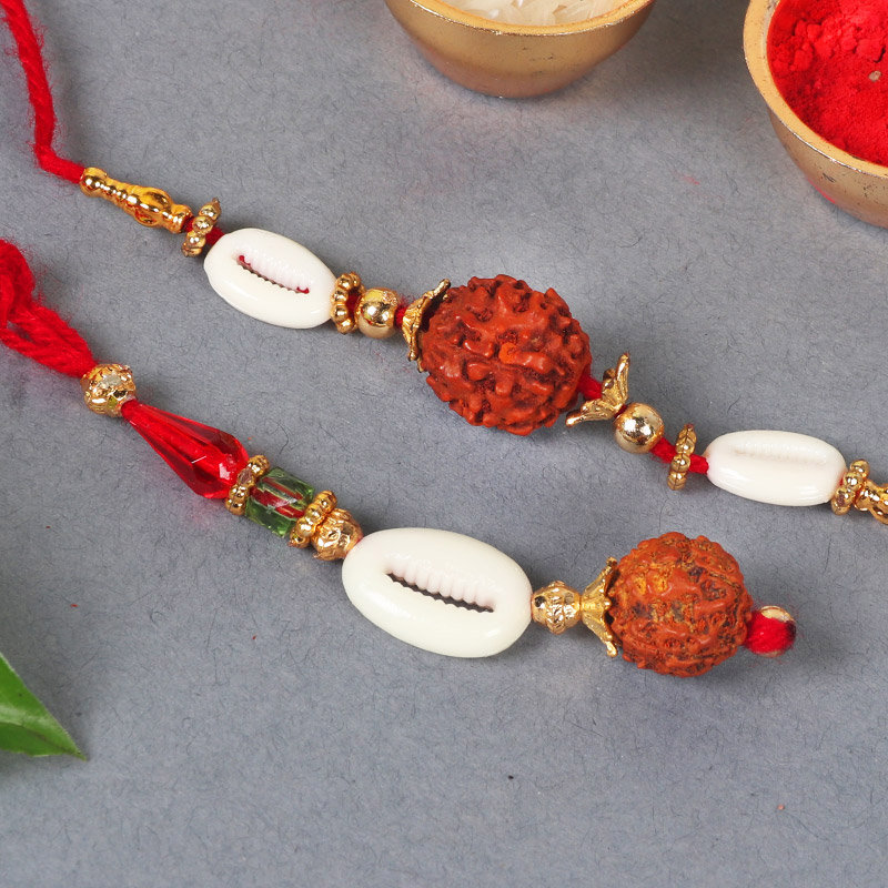 Product View in Two Rakhis With Two Cadbury Chocolates