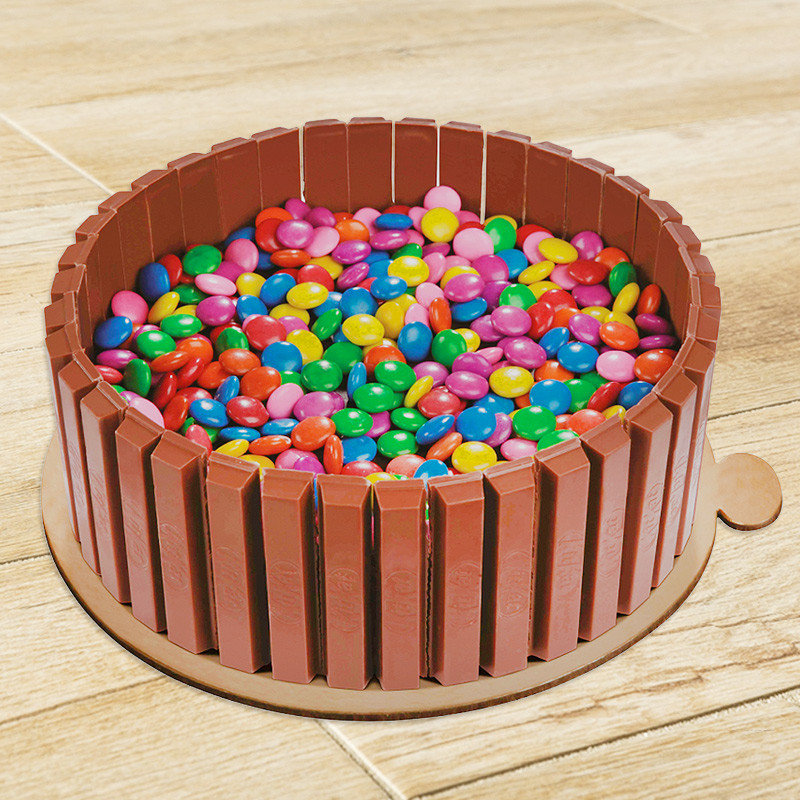 Eggless Kitkat and Gems Cake Delivery