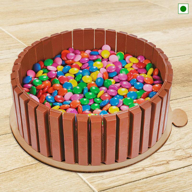 Eggless Kitkat and Gems Cake Online