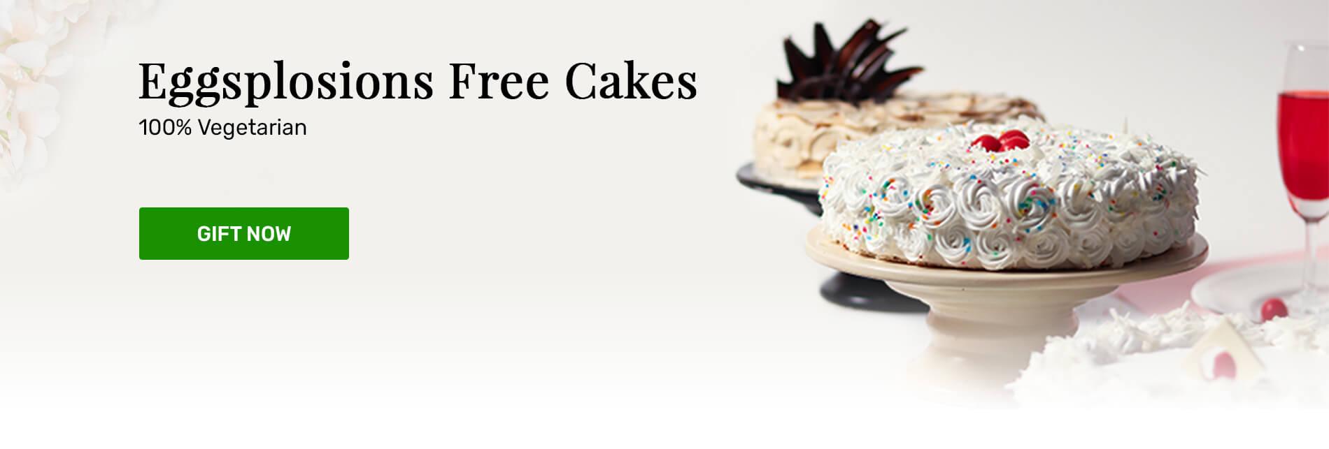 Send eggless cakes online