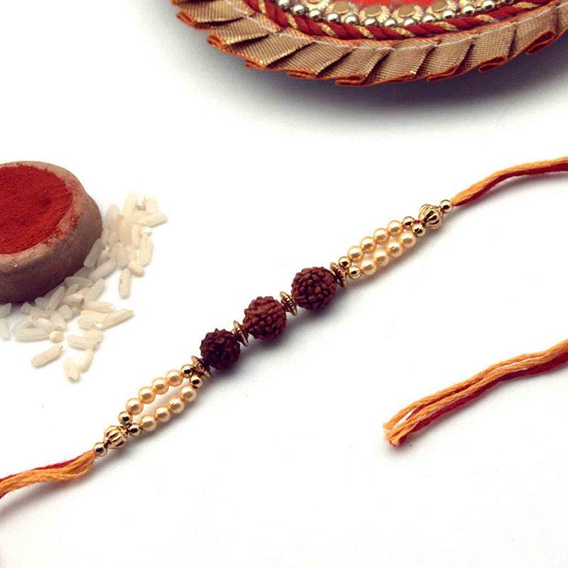 Elegant Rudraksh Rakhi