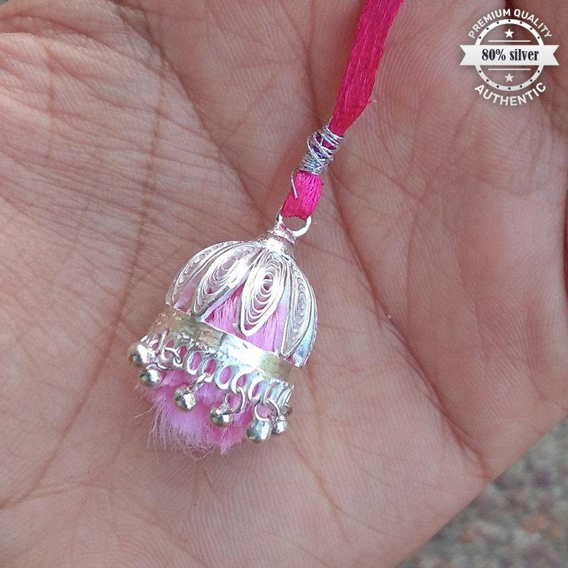 Elegant Silver Lumba Rakhi