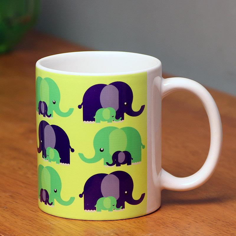 Elephant Printed Mug in Desi Design