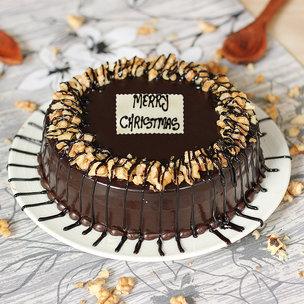 Choco Walnut Christmas Cake