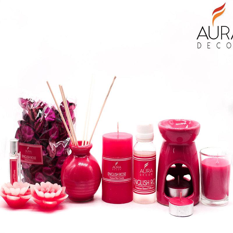 English Rose Aroma Diffuser Combo