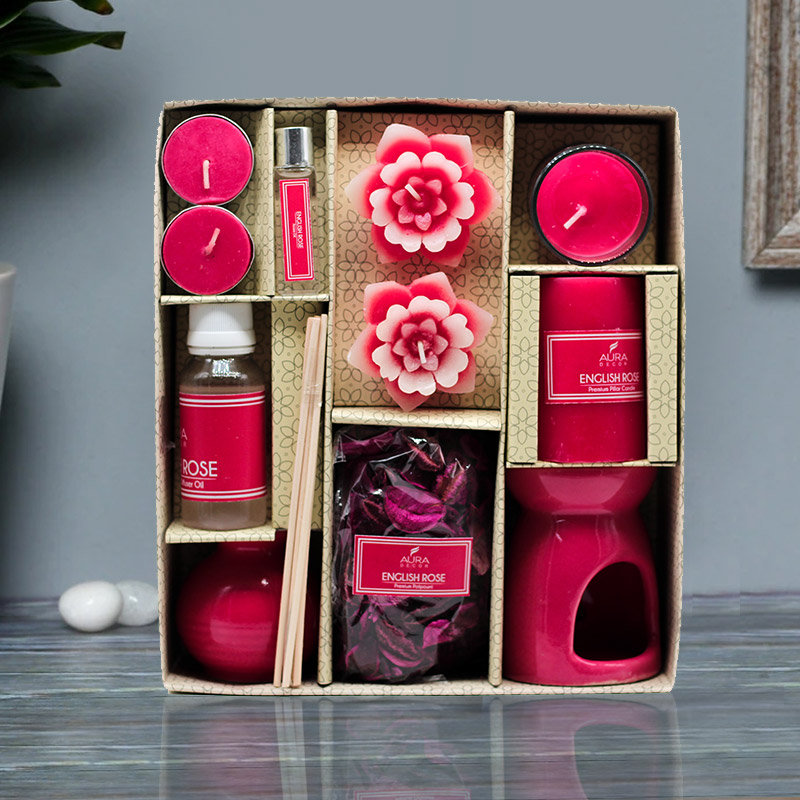 English Rose Aroma Diffuser Combo in a Box