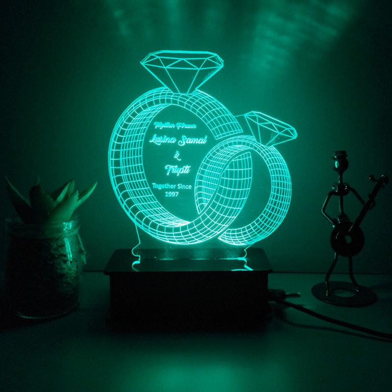 Engraved Led Lamp